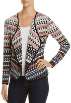 Nic+Zoe Flashing Lights Geo Stripe Cardigan