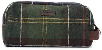 Barbour check pattern wash bag
