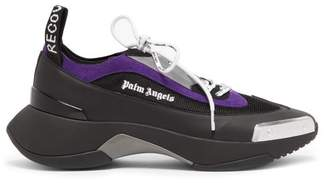 Palm Angels Recovery Low Top Leather Trainers - Mens - Black Multi