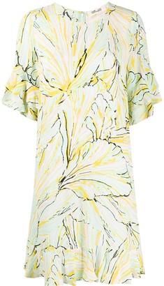 Diane von Furstenberg Graphic Floral Dress
