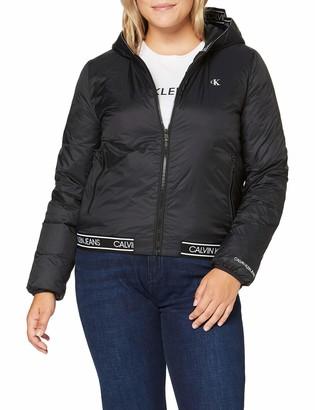 Calvin Klein Jeans Women's Logo Hooded LW Padded Jacket