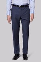 Moss Esq. Regular Fit Blue Birdseye Pants