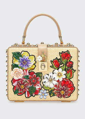 Dolce & Gabbana Jeweled Box Top-Handle Bag