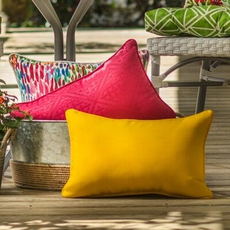 "Maja Bay Isle Home Indoor/Outdoor Lumbar Pillow Bay Isle Home Size: 11.5"" x 18.5"""