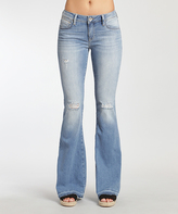 Mavi Jeans Peace Light Rip Skinny Flare Jeans - Women
