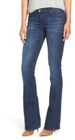 KUT from the Kloth 'Natalie' Stretch Curvy Bootcut Jeans (Lift/Dark Stone)