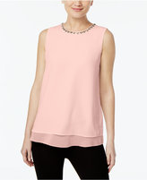 Calvin Klein Embellished Layered Shell