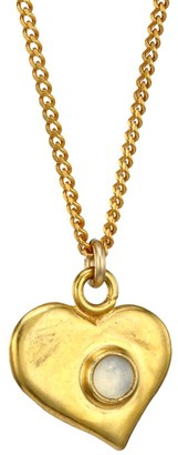 Chan Luu 18K Goldplated Sterling Silver & Moonstone Heart Pendant Necklace