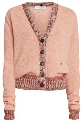 Victoria Beckham Contrast-Trim Wool Cardigan