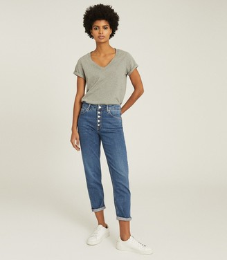 Reiss BAILEY MID RISE SLIM CUT JEANS Mid Blue