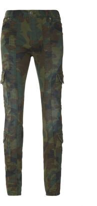 Balmain Camo Cotton-Blend Cargo Pants