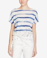 Lauren Ralph Lauren Short-Sleeve Linen Top