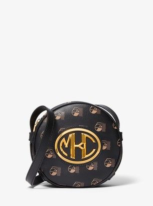 Michael Kors Monogramme Studio 54 Print Leather Canteen Crossbody Bag