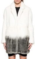Pinko Women's White/grey Polyester Coat.