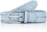 Barneys New York Men's Woven Leather Belt-BLUE