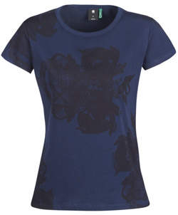 G Star Raw GRAPHIC 2 R women's T shirt in Blue