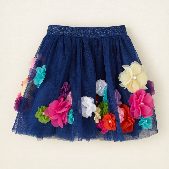 Children's Place 3D rosette skirt