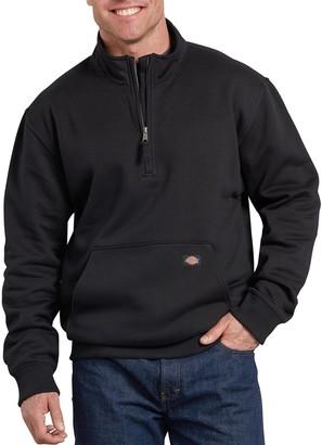 Dickies Men's Mobility Quarter-Zip Fleece Pull-Over Jacket