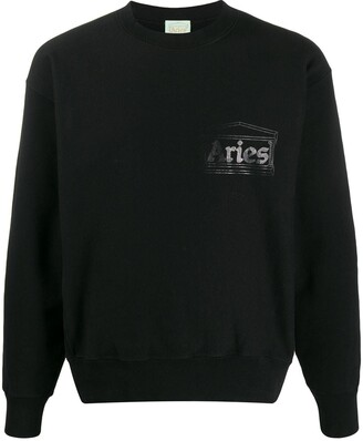 Aries Logo Long-Sleeve Sweatshirt