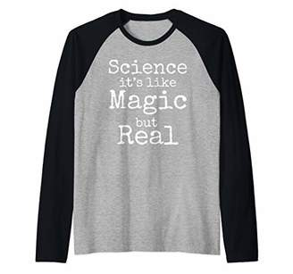 Funny Science Teacher Gift Science it's Like Magic but Real Raglan Baseball Tee