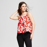 J by J.O.A. Women's Floral Print Cami Red