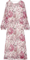 IRO Aby open-back printed silk-georgette midi dress