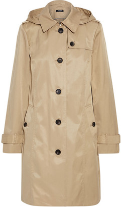 DKNY Cotton-blend Twill Hooded Trench Coat