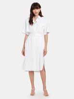 Eien29 Linen Shirt One Piece Midi Dress