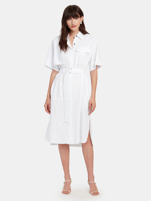 Eien29 Linen Shirt One Piece Midi Dress