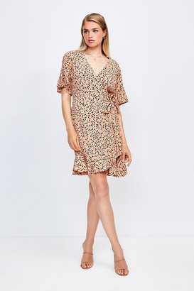 Karen Millen Mix Spot Viscose Wrap Dress