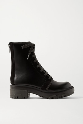 Rag & Bone Shaye Hiker Suede-trimmed Leather Ankle Boots - Black