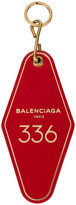 Balenciaga Red Hotel Key Tag keyring