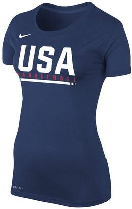 Nike Women's Navy USA Basketball Legend T-Shirt