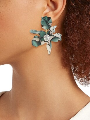Lele Sadoughi 14K Gold-Plated, Acetate & Crystal Floral Drop Earrings