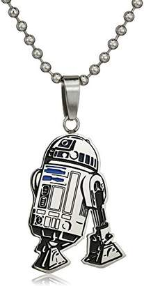 Star Wars Jewelry Unisex R2-D2 Stainless Steel and Enamel Cut Out Kid's Pendant Necklace