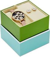 Kate Spade Women's Metro Vachetta Leather Strap Watch & Earring Box Set 34mm