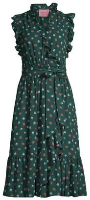 Kate Spade Blackberry Ruffle Wrap Dress