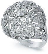 Effy Diamond And 14K White Gold Ring, 1.65 TCW