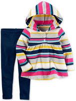Carter's 2-Pc. Striped Hoodie & Leggings Set, Baby Girls (0-24 months)