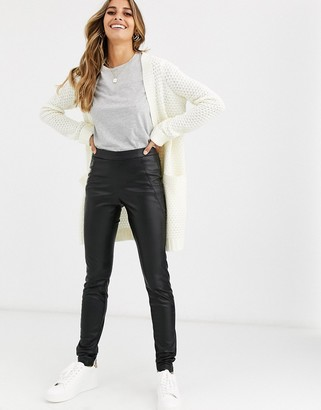 Vero Moda faux leather trousers