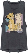 Simba Licensed Character Juniors Lion King And Nala Retro Geometric Muscle Shirt
