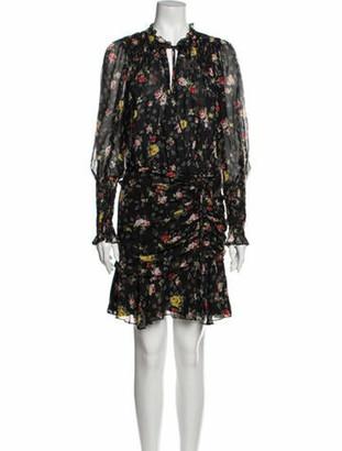Veronica Beard Silk Mini Dress Black