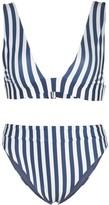 Agua Bendita Agua By Laurie Triangle Striped Bikini
