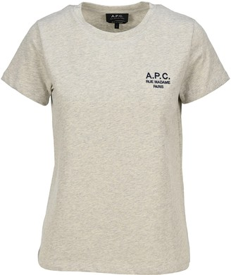 A.P.C. Denise Logo Embroidered T-Shirt