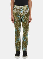 James Long Men's Camo Print Slim Leg Jeans In Green