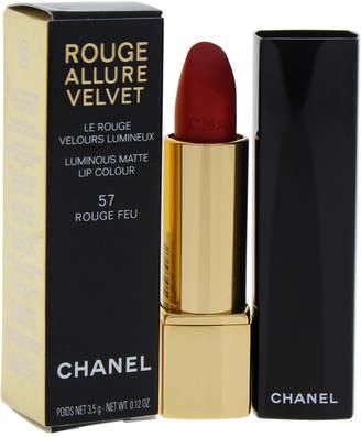 Chanel 0.12Oz #57 Rouge Feu Rouge Allure Velvet Luminous Matte Lip Colour