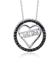 """Sterling Silver """"Mom"""" Heart Pendant Necklace with Diamond Accents by JewelonFire"""