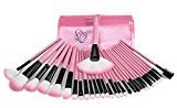 S C Products S&C 32PCS Soft Smooth Hair Makeup Brushes Professional Makeup Brush Set (Pink)