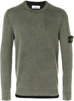 Stone Island fitted long sleeve jumper