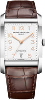 Baume & Mercier Men's Swiss Automatic Hampton Brown Alligator Leather Strap Watch 29x42mm M0A10156